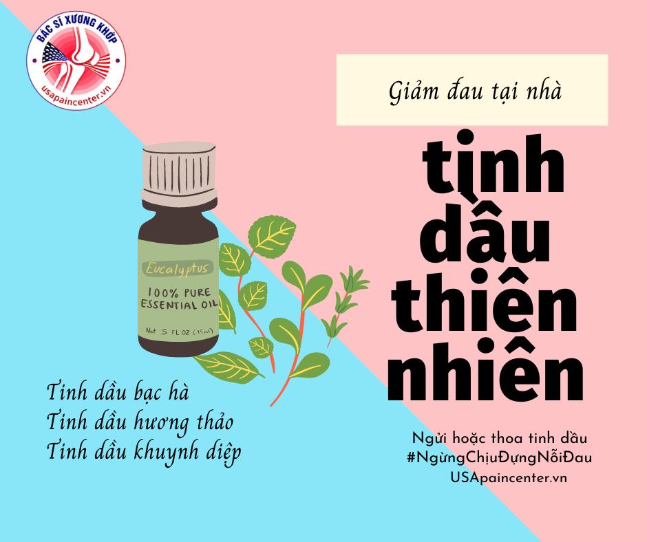 3 loại tinh dầu thiên nhiên giúp giảm đau hiệu quả